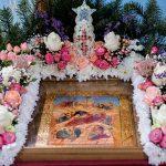 В день отдания праздника Рождества Христова Преосвященнейший Вениамин, епископ Борисовский и Марьиногорский совершил Литургию в Рождественском храме Острошиц