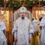 Епископ Борисовский и Марьиногорский Вениамин совершил Божественную литургию в храме в честь Рождества Христова деревни Алесино