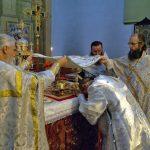 В день памяти Собора Предтечи и Крестителя Господня Иоанна епископ Борисовский и Марьиногорский Вениамин совершил Божественную литургию в Благовещенском монастыре