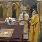 В Неделю 37-ю по Пятидесятнице епископ Борисовский и Марьиногорский Вениамин совершил Божественную литургию в Ляденском мужском монастыре Благовещения Пресвятой Богородицы