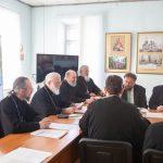 Епископ Борисовский и Марьиногорский Вениамин принял участие в заседание Совета Института теологии БГУ