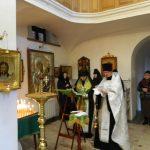 В день Вселенской родительской мясопустной субботы епископ Борисовский и Марьиногорский Вениамин совершил ночную Литургию в Ксениевском монастыре в д. Барань
