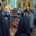 Епископ Борисовский и Марьиногорский Вениамин возглавил воскресную вечерню с чином прощения в Благовещенском монастыре д.М.Ляды