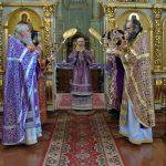 В Неделю 2-ю Великого поста епископ Борисовский и Марьиногорский Вениамин совершил Божественную литургию в Ляденском мужском монастыре Благовещения Пресвятой Богородицы