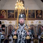 В Четверток Великого канона епископ Борисовский и Марьиногорский Вениамин совершил Литургию Преждеосвященных Даров в храме Преображения Господня г. Березино