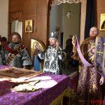 Епископ Борисовский и Марьиногорский Вениамин совершил Литургию Преждеосвященных Даров в кафедральном соборе Воскресения Христова города Борисова