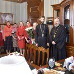 Епископ Вениамин поздравил с Пасхой сотрудников епархиального управления и кафедрального собора с праздником Воскресения Христова