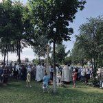 Совершен чин освящения креста на месте строительства нового храма в честь Преображения Господня в городе Жодино