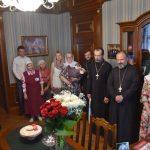 Сотрудники епархиального управления Борисовской епархии и кафедрального собора поздравили епископа Вениамина с Днем его тезоименин