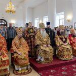В день празднования Собора Саратовских святых епископ Борисовский и Марьиногорский Вениамин сослужил за Божественной литургией митрополиту Саратовскому и Вольскому Лонгину