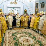 Епископ Борисовский и Марьиногорский Вениамин сослужил во всенощном бдении, приуроченным ко 30-летию со дня образования Белорусского Экзархата Московского Патриархата.