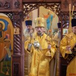 В Неделю 12-ю по Пятидесятнице, епископ Борисовский и Марьиногорский Вениамин возглавил Божественную литургию в храме Успения Пресвятой Богородицы д. Беларучи