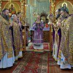 В праздник Воздвижения Честного и Животворящего Креста Господня епископ Вениамин совершил Литургию в Благовещенском монастыре