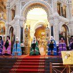 Епископ Борисовский и Марьиногорский Вениамин сослужил Святейшему Патриарху Кириллу за Литургией в Храме Христа Спасителя