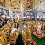 В день рождения Святейшего Патриарха Кирилла епископ Вениамин сослужил Предстоятелю Русской Церкви за Литургией в Храме Христа Спасителя