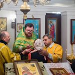 В храм Покрова Пресвятой Богородицы аг. Озерицкая Слобода был доставлен ковчег с частицей мощей святителя Спиридона Тримифунтского