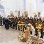 В Марьиной Горке с Рождеством Христовым поздравили военнослужащих
