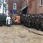 Молодые солдаты посетили Георгиевский храм г. Борисова