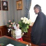 Сотрудники епархиального управления Борисовской епархии и кафедрального собора поздравили епископа Вениамина с 10-летием архиерейской хиротонии