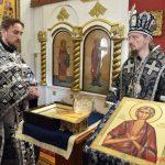 В Четверток Великого канона епископ Борисовский и Марьиногорский Вениамин совершил Литургию Преждеосвященных Даров в Преображенском храме г. Березино
