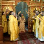В Неделю 1-ю по Пятидесятнице епископ Борисовский и Марьиногорский Вениамин возглавил Литургию в Ляденском мужском монастыре