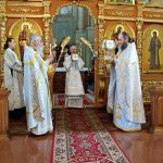 В Неделю 11-ю по Пятидесятнице епископ Вениамин возглавил Литургию в Благовещенском храме Ляденского мужского монастыря