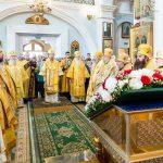 Митрополит Вениамин возглавил соборную архиерейскую Литургию в Свято-Духовом кафедральном соборе города Минска
