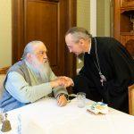 Митрополит Филарет поздравил митрополита Вениамина с началом служения на Минской кафедре