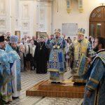 Предстоятель Белорусской Православной Церкви совершил Литургию в Покровском кафедральном соборе города Гродно и пообщался с духовенством Гродненской епархии