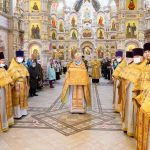В Неделю 19-ю по Пятидесятнице митрополит Вениамин совершил Литургию во Всехсвятском храме города Минска