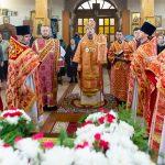 В день памяти священномученика Порфирия Рубановича митрополит Вениамин совершил Литургию в кафедральном соборе Преображения Господня города Заславля