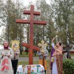 В Озерицкой Слободе состоялось освящение поклонного креста