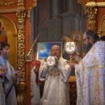 В Димитриевскую родительскую субботу Патриарший Экзарх совершил Литургию в Ляденском монастыре