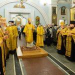 В канун Недели святых праотец Патриарший Экзарх совершил всенощное бдение в Свято-Духовом кафедральном соборе города Минска