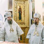 В день памяти первомученика Стефана Патриарший Экзарх совершил Литургию в Успенском соборе Жировичского монастыря