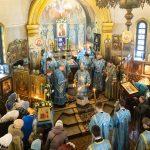 Патриарший Экзарх совершил Литургию в храме в честь иконы Божией Матери «Взыскание погибших» в городе Минске