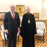 Митрополит Вениамин встретился с послом Сирии в Беларуси