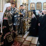 Митрополит Вениамин возглавил вечерню с чином прощения в Свято-Духовом кафедральном соборе города Минска