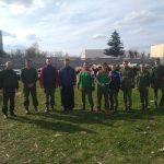 Военнослужащие провели уборку территории прихода храма преподобного Сергия Радонежского в г. Жодино
