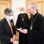 Патриарший Экзарх встретился с послом Японии в Беларуси