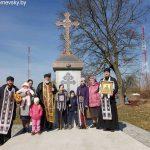 В д. Омельно Пуховичского района освятили поклонный крест и парк памяти святой праведной Софии Слуцкой