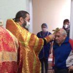 Священник в день святого праздника Пасхи посетил отделение круглосуточного пребывания Червенского территориального центра социального обслуживания населения д. Рудня
