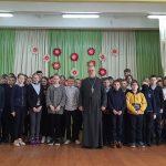 В Лошницкой средней школе Борисовского района священник провел беседу с учащимися