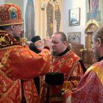 В канун Недели святых жен-мироносиц Патриарший Экзарх совершил всенощное бдение в Ляденском мужском монастыре