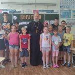 В г. Жодино священник встретился с ребятами из летнего лагеря и провел с ними беседу