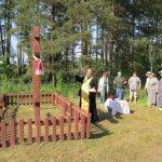 В поселке Ленок Крупского района освятили новосооруженные кресты