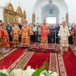 В праздник преподобной Евфросинии Полоцкой Патриарший Экзарх возглавил Литургию в Спасо-Евфросиниевском женском монастыре города Полоцка