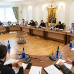 Митрополит Вениамин возглавил рабочее совещание по вопросам строительства храмов, возводимых в городе Минске и Минском районе