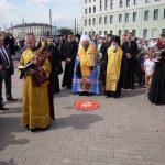 Митрополит Вениамин совершил закладку капсулы в основание памятника святителю Георгию (Конисскому), архиепископу Могилевскому