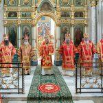 В день памяти священномученика Вениамина, митрополита Петроградского, Патриарший Экзарх совершил Божественную литургию в Свято-Духовом кафедральном соборе города Минска